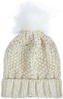 Accessorize SGH Foiled Faux Fur Pom Beanie Hat