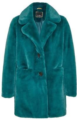 Sam Edelman Faux Fur Notch Collar Coat