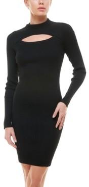 Planet Gold Juniors' Cutout Sweater Dress