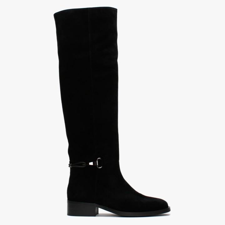 Daniel Vivvie Black Suede Over The Knee Boots