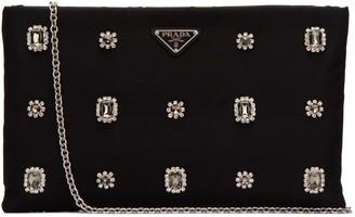 Prada Crystal Embellished Clutch Bag