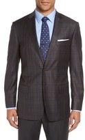 Hart Schaffner Marx Men's 'Jetsetter' Classic Fit Plaid Wool Sport Coat