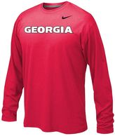 Nike Boys 8-20 Georgia Bulldogs Legend Wordmark Dri-FIT Long-Sleeve Tee