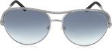 Roberto Cavalli VEGA 1011 Metal Aviator Women's Sunglasses w/Crystals