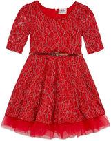 Knitworks Knit Works Elbow Sleeve A-Line Dress - Preschool