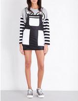 MINI CREAM Dungaree shell dress