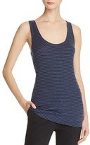 Vince Heather Stripe Scoop Neck Tank