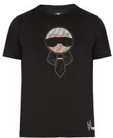 Fendi Karlito-embellished Cotton T-shirt