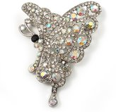 Avalaya AB Diamante Butterfly Brooch ( Tone)
