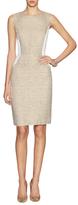 Magaschoni Textured Boucl e& Luxe Sheath Dress