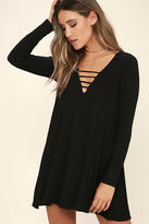 Lucy-Love Lucy Love Great Day Black Swing Dress