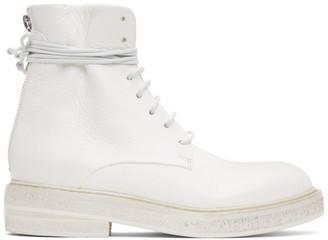 Marsèll White Parrucca Boots