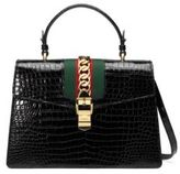 Gucci Sylvie Crocodile Shoulder Bag