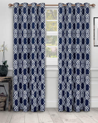 Florence & Strada Ribbon Blackout Curtain Panel Pair, 84""