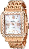 Peugeot Women's 7080RG Swarovski Crystal-Accented Watch