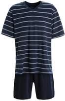 Schiesser Anzug Kurz Set Pyjama Set Dunkelblau