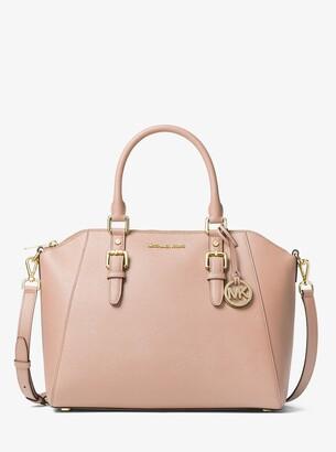 MICHAEL Michael Kors Ciara Large Saffiano Leather Satchel