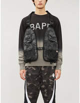 A Bathing Ape Dot camouflage shell vest