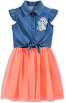 My Little Pony Tie-Front Denim & Tulle Dress, Toddler & Little Girls (2T-6X)