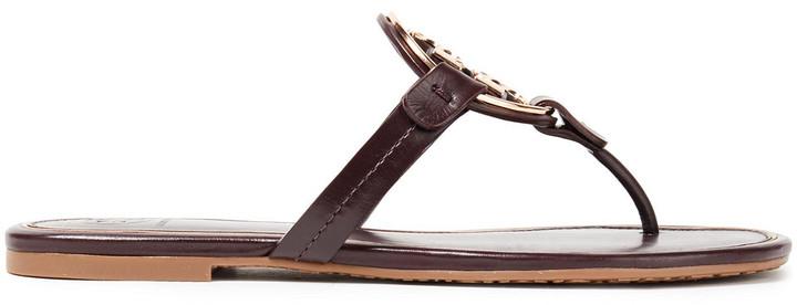 Tory Burch Miller Embellished Leather Sandals