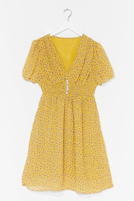 Nasty Gal Womens Growing With It Floral Mini Dress - Yellow