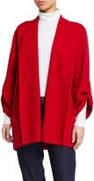 Eileen Fisher Lightweight Boiled Wool Coat, Garnet