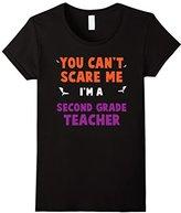 Women's Halloween T-Shirt | Funny Shirt Second Grade Teacher Small