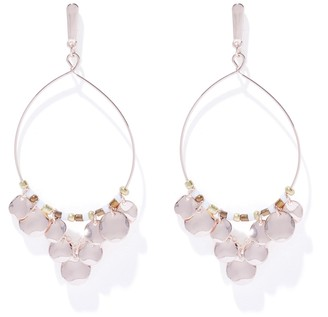 Forever New Betti Bead & Hammered Disc Drop - Peach - 00