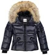 SAM. Girls' Fur-Trimmed Down Jacket - Little Kid