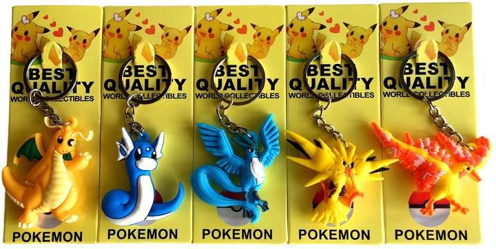 Warehouse 151 Pokémon Keychains 3D Double Sided (Magikarp, Vulpix, Lapras, Poliwag, and Ponyta)