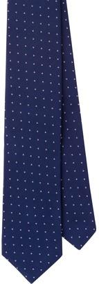 Prada Geometric Micro-Jacquard Tie
