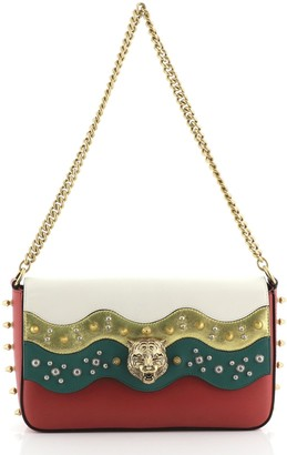 Gucci Animalier Chain Shoulder Bag Studded Leather Medium