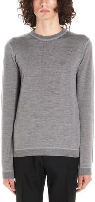 Prada Logo Embroidered Sweater