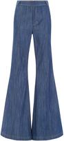 Derek Lam 10 Crosby Raw Denim High Rise Flared Jeans
