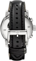 Emporio Armani Stainless Steel & Leather-Strap Chronograph Watch