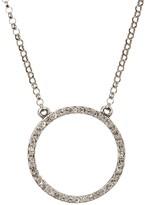 Judith Jack Sterling Silver Swarovski Marcasite & Swarovski Crystal Embellished Circle Pendant Necklace
