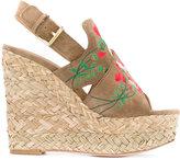 Ash Bikini wedge sandals - women - Leather/Suede - 39