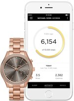 Michael Kors Women's 'Slim Runway' Quartz Stainless Steel Casual Watch, Color:Rose Gold-Toned (Model: MKT4005)