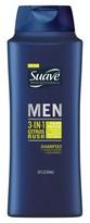 Suave Men Citrus Rush 3 in 1 Shampoo Conditioner and Body Wash 28 oz