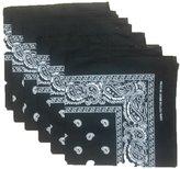 Best 6 Color Pack Paisley Bandana Scarf, Head Wraps BLACK
