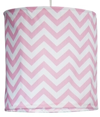 "Zoomie Kids Bullington Hanging 14 "" Fabric Drum Pendant shade Color: Pink"