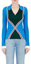Esteban Cortazar Women's Geometric-Pattern Rib-Knit Shirt