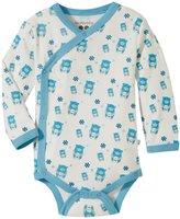 Baby Soy Organic Pattern Kimono Bodysuit (Baby) - Blue Bear - 3-6 Months
