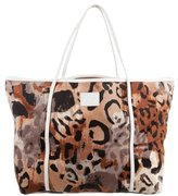 Diane von Furstenberg Leather-Accented Printed Canvas Tote