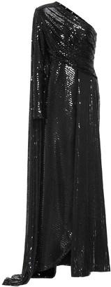 Elie Saab Sequined one-shoulder gown
