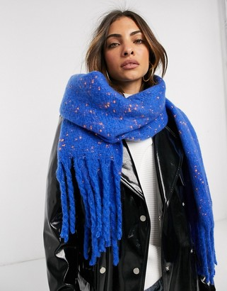 French Connection knit scarf in cobalt blue