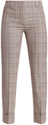 Akris Maxima Plaid Wool Cropped Pants