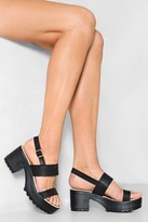 Nasty Gal Cleated Two Part Sandals