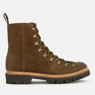 Grenson Men's Brady Suede Hiking Style Boots - Snuff