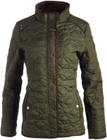 Weatherproof Leaf Faux Fur-Lined Quilted Jacket